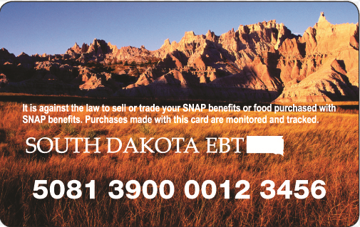 """South Dakota EBT Card Balance"""
