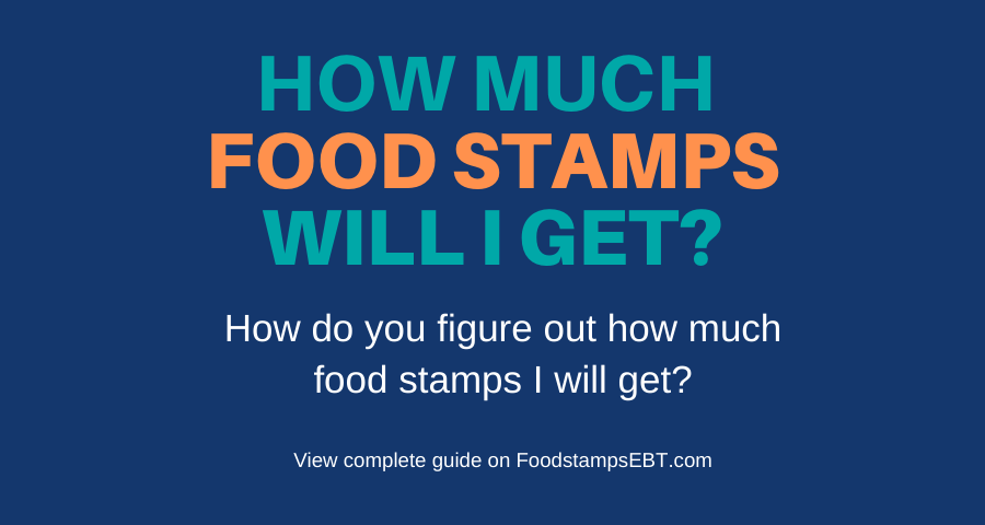 How Much Food Stamps Will I Get Food Stamps Ebt
