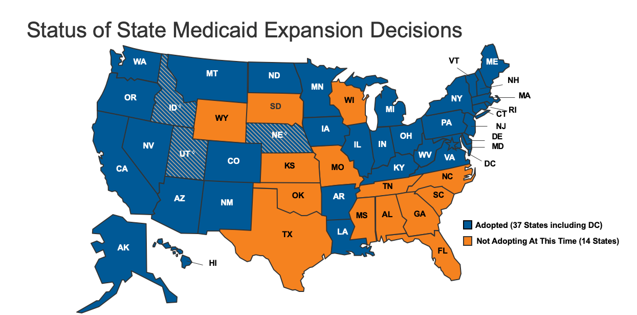 """Medicaid Expansion by State"""