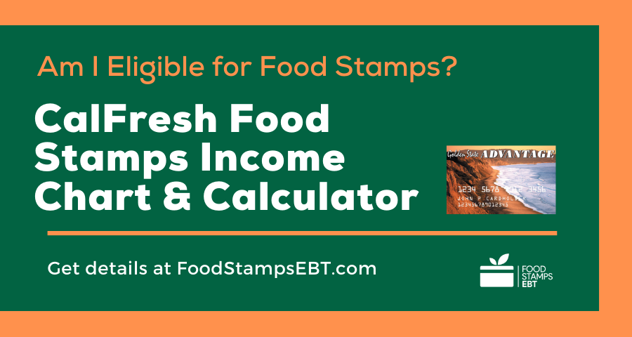 """Calfresh Food Stamps Income Chart and Calculator"""