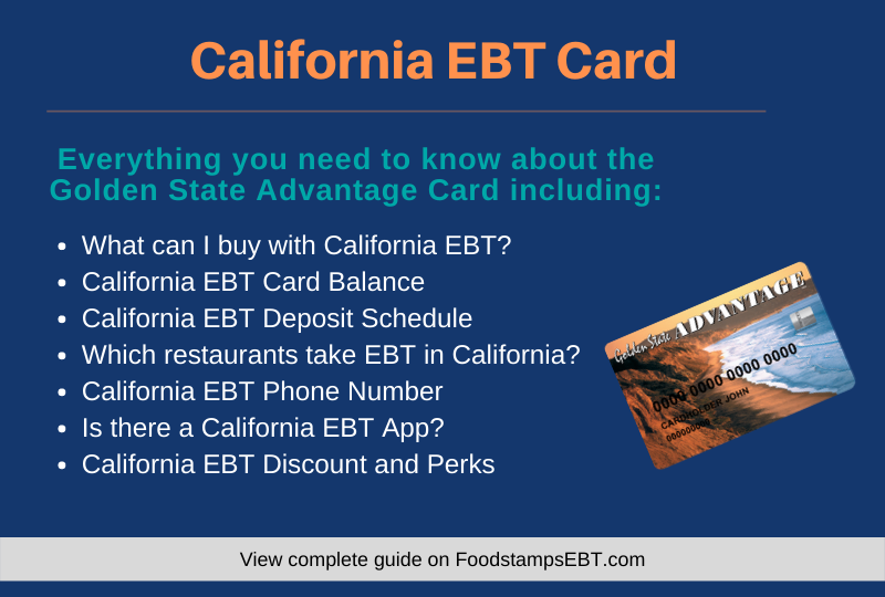 """California EBT Card Questions and Answers"""