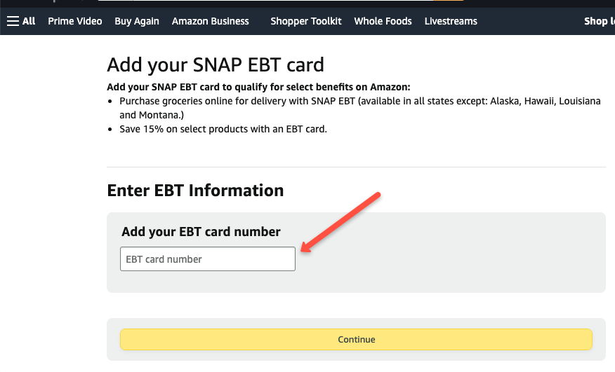 """""""How to Add EBT Card to Amazon Account"""""""
