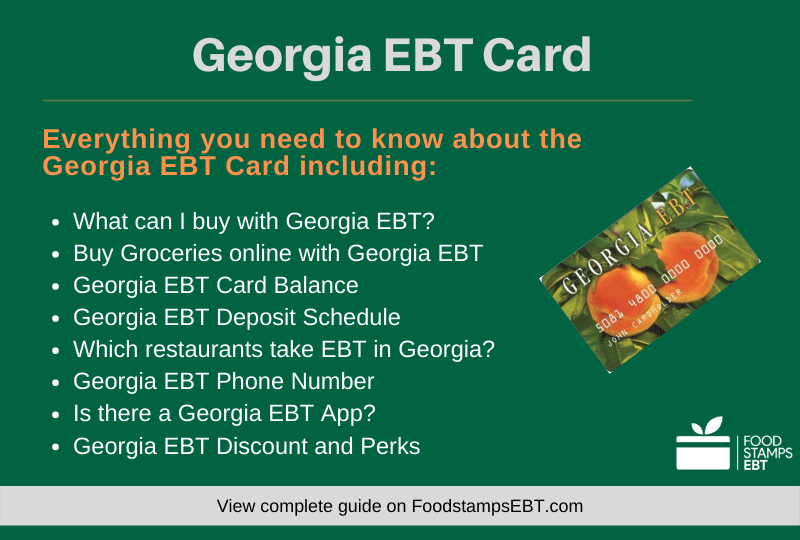 """Georgia EBT Card Questions and Answers"""