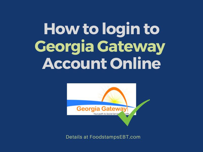 """Georgia Gateway Account Login"""