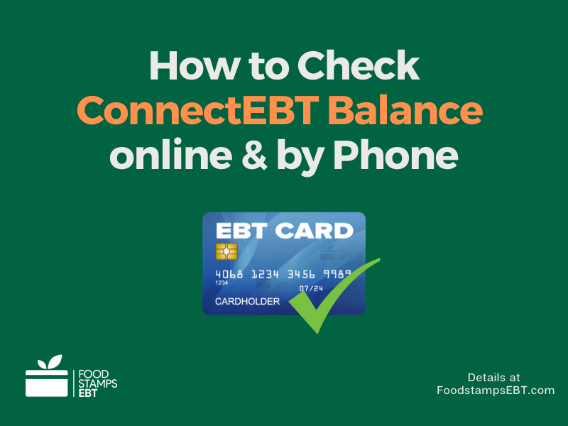 """How to Check ConnectEBT Balance"""