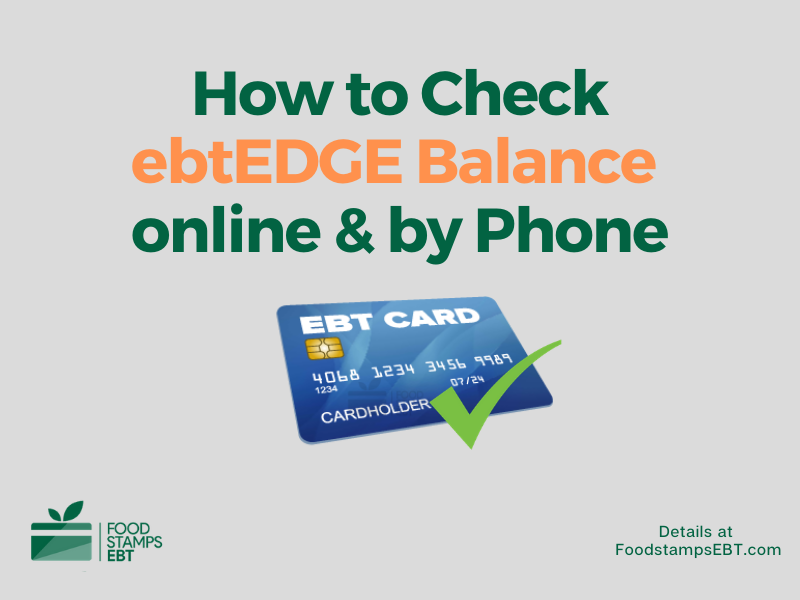 """How to check ebtEDGE Balance"""