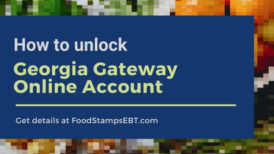 """How to unlock Georgia Gateway Online Account"""