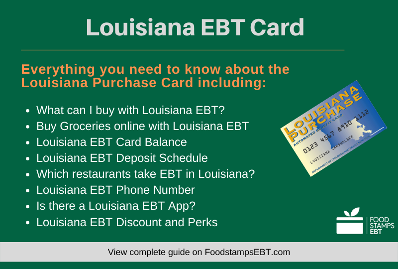 """""""Louisiana EBT Card Questions and Answers"""""""