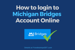 """Michigan Bridges Account Login"""