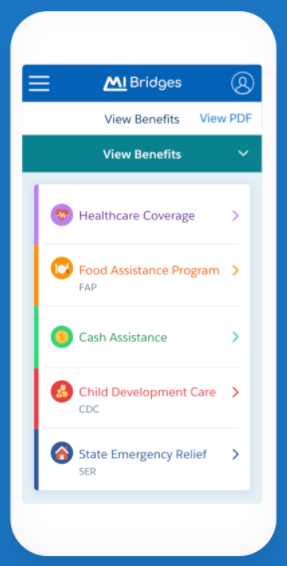 """Michigan DHHS Bridges Mobile application portal"""