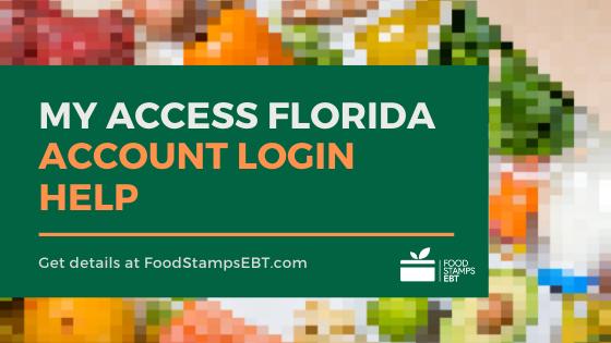 """My Access Florida Account Login help"""