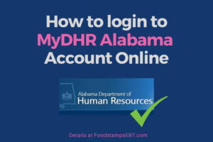 """MyDHR Alabama Account Login"""