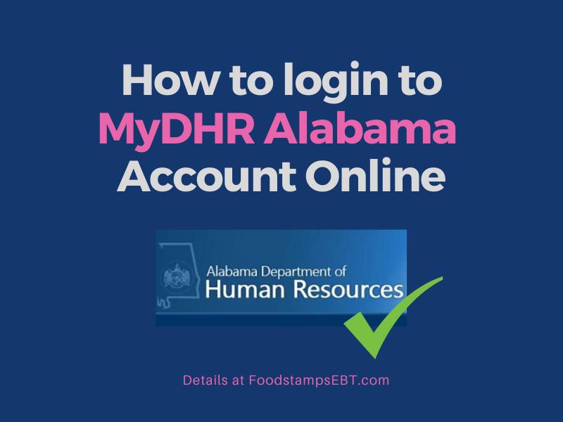 """""""MyDHR Alabama Account Login"""""""