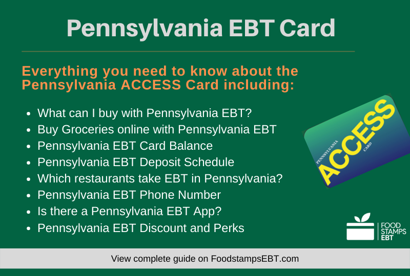 """Pennsylvania EBT Card Questions and Answers"""