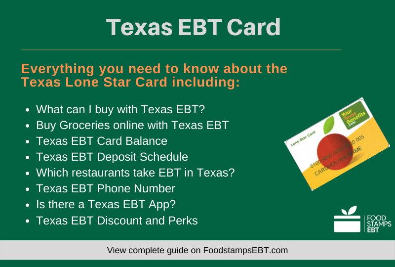 """Texas EBT Card Questions and Answers"""