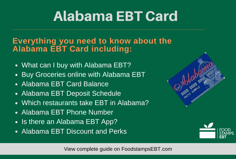 """Alabama EBT Card Questions and Answers"""