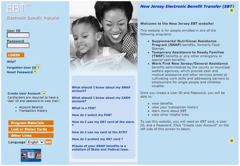 """""""How Do I check my New Jersey EBT Card Balance online"""""""
