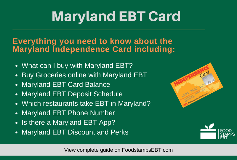 """Maryland EBT Card Questions and Answers"""