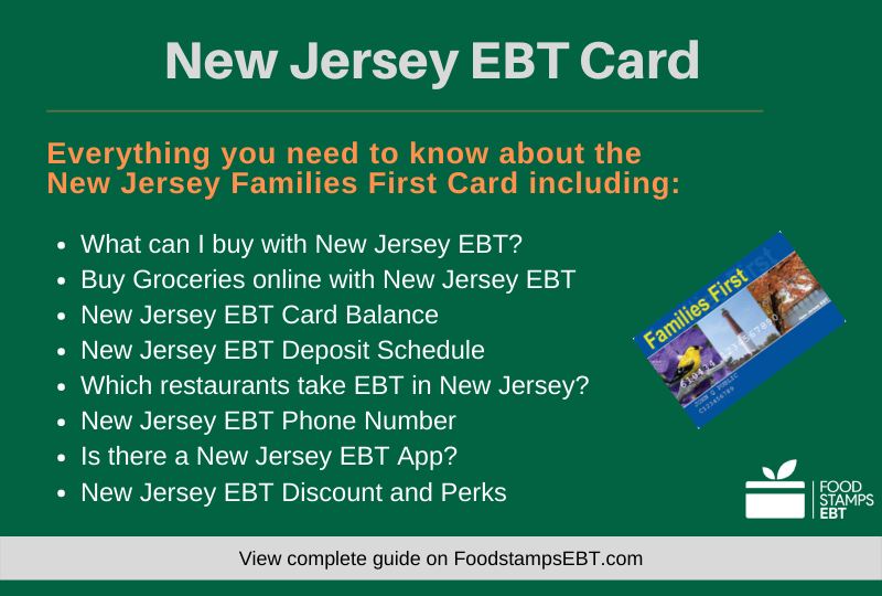 """New Jersey EBT Card Questions and Answers"""