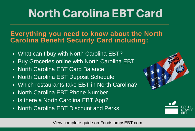 """North Carolina EBT Card Questions and Answers"""