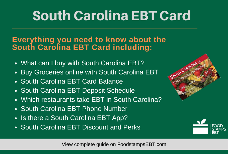 """South Carolina EBT Card Questions and Answers"""