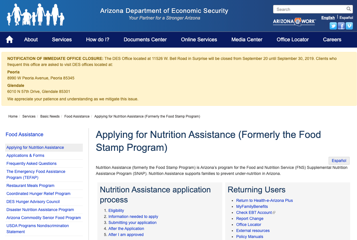 """Apply for Arizona Food Stamps"""