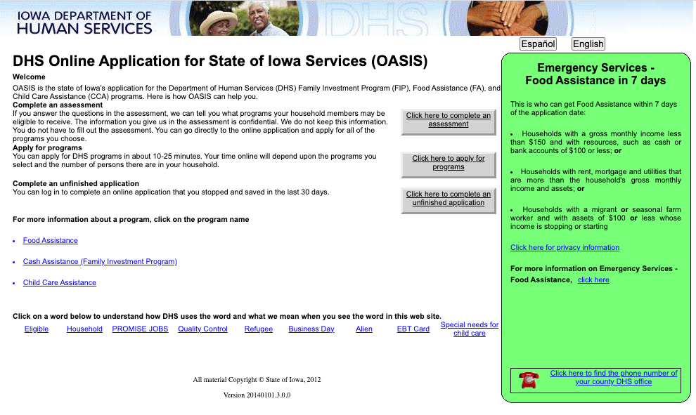 """Apply for Iowa Food Stamps online"""