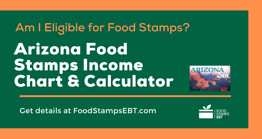 """""""Arizona Food Stamps Income Chart and Calculator"""""""