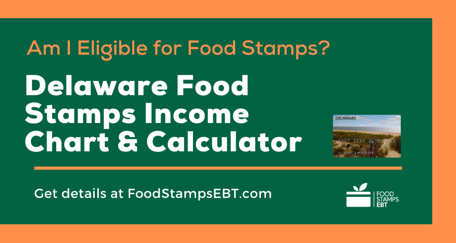 """""""Delaware Food Stamps Income Chart and Calculator"""""""