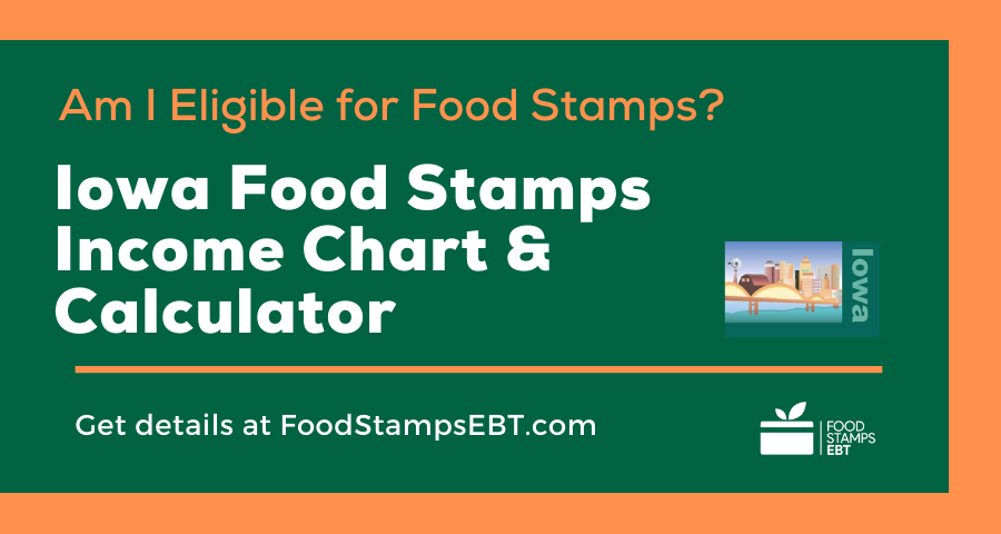 """Iowa Food Stamps Income Chart and Calculator"""