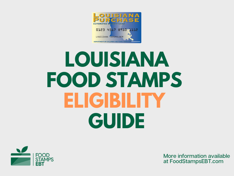 """Louisiana food Stamps Eligibility Guide"""