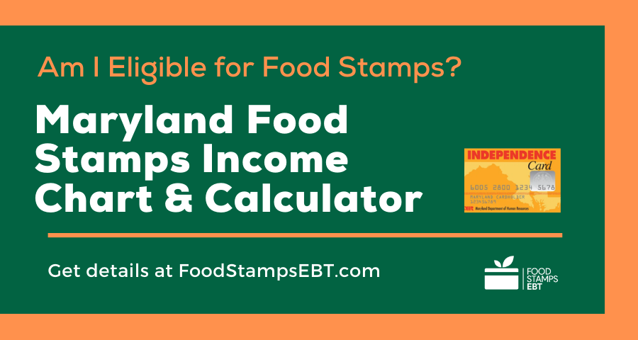 """Maryland Food Stamps Income Chart and Calculator"""