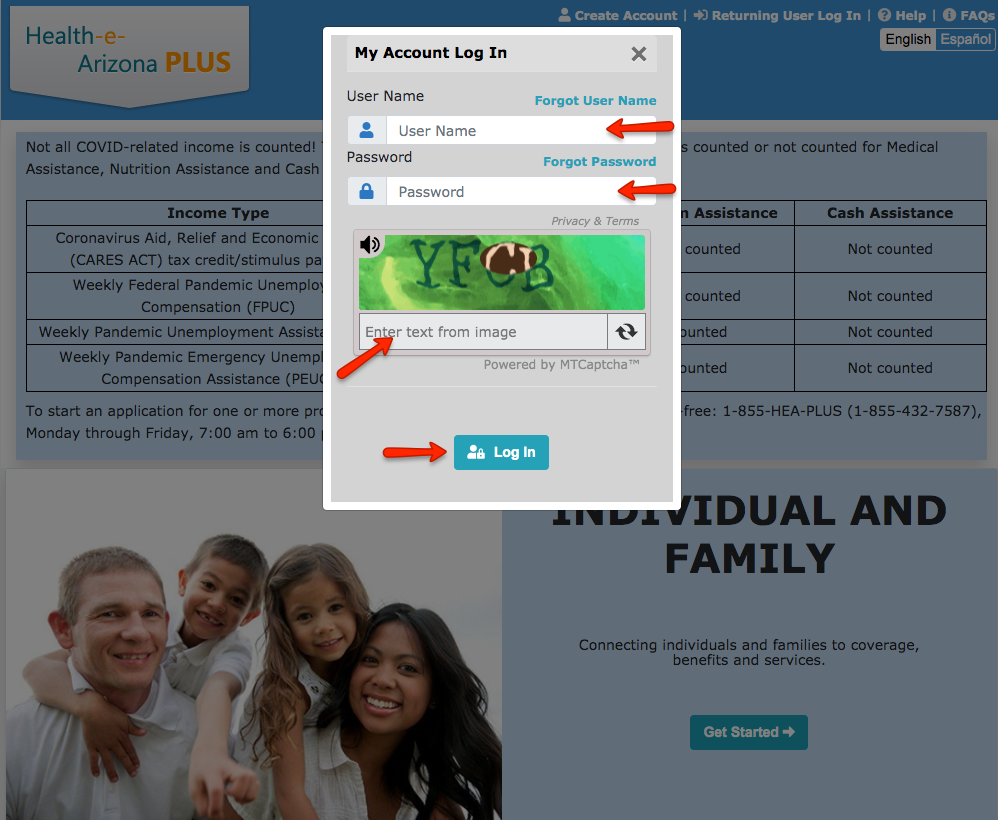 """Health-e-Arizona Plus login instructions 1"""