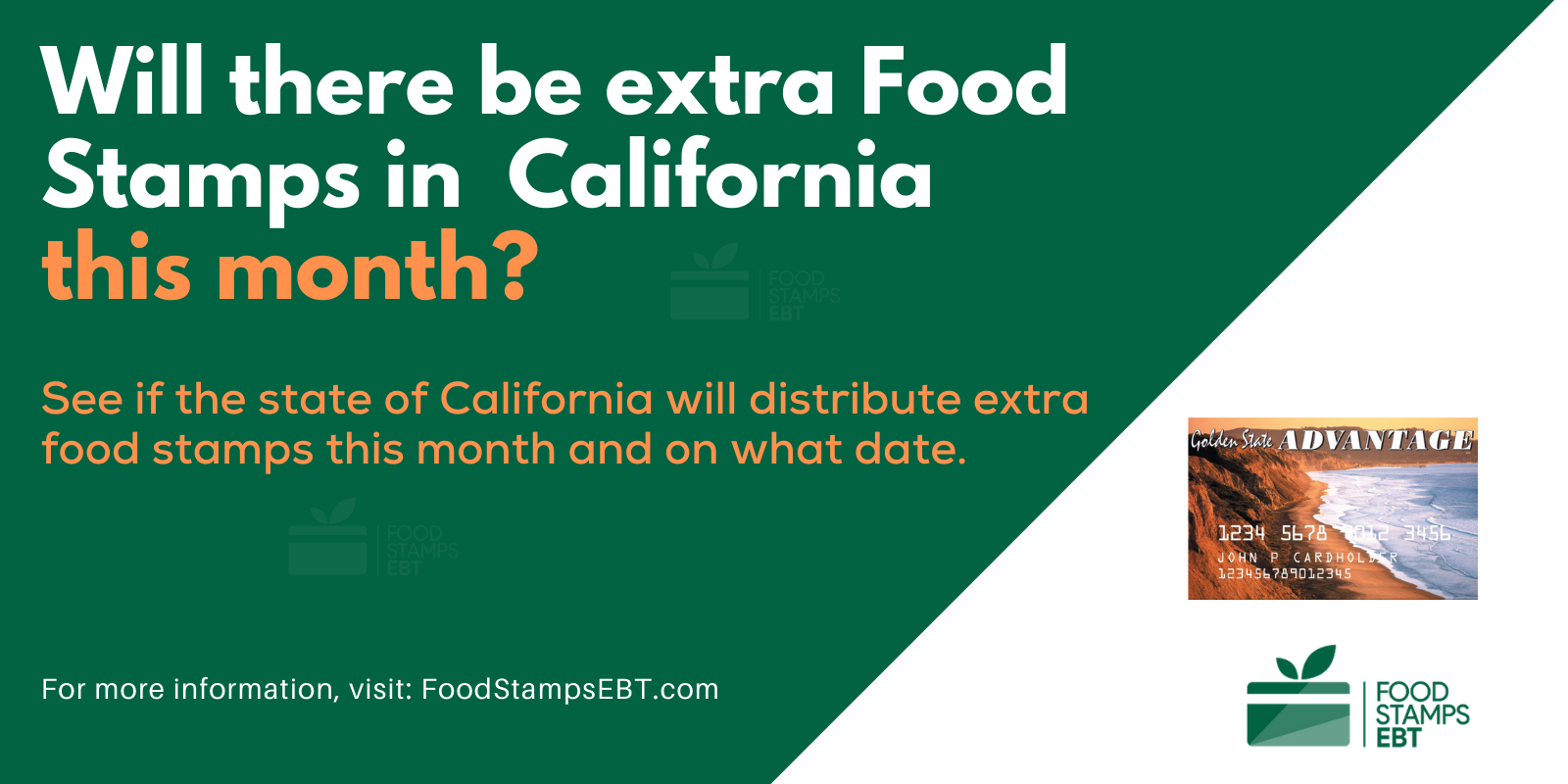 """""""Extra Food Stamps in California"""""""