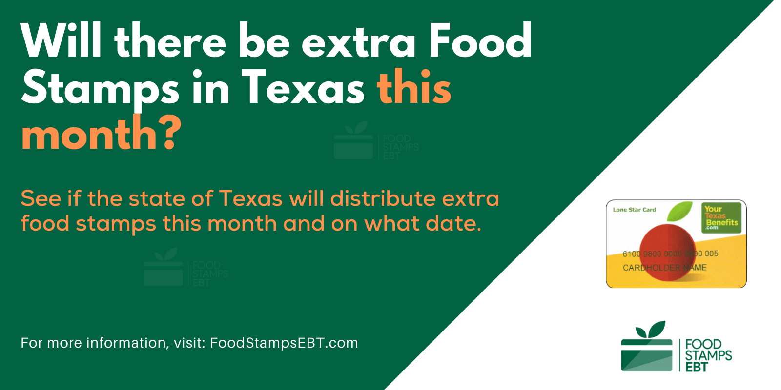 """Extra Food Stamps in Texas"""""""