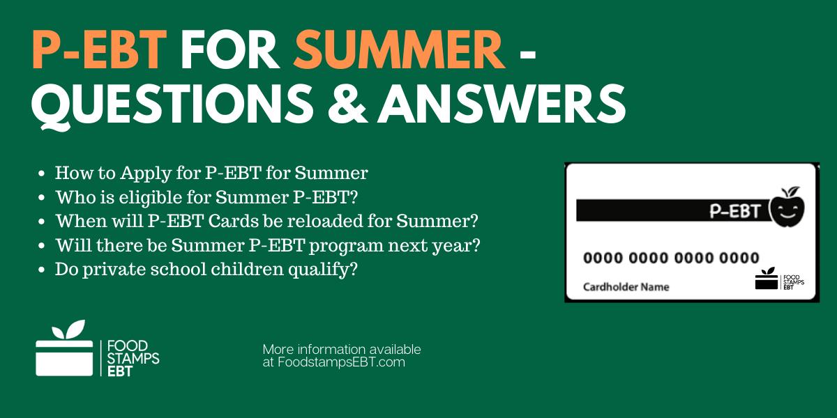 """""""Summer P-EBT Program FAQs"""""""