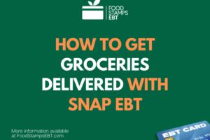 """EBT online shopping for Groceries"""