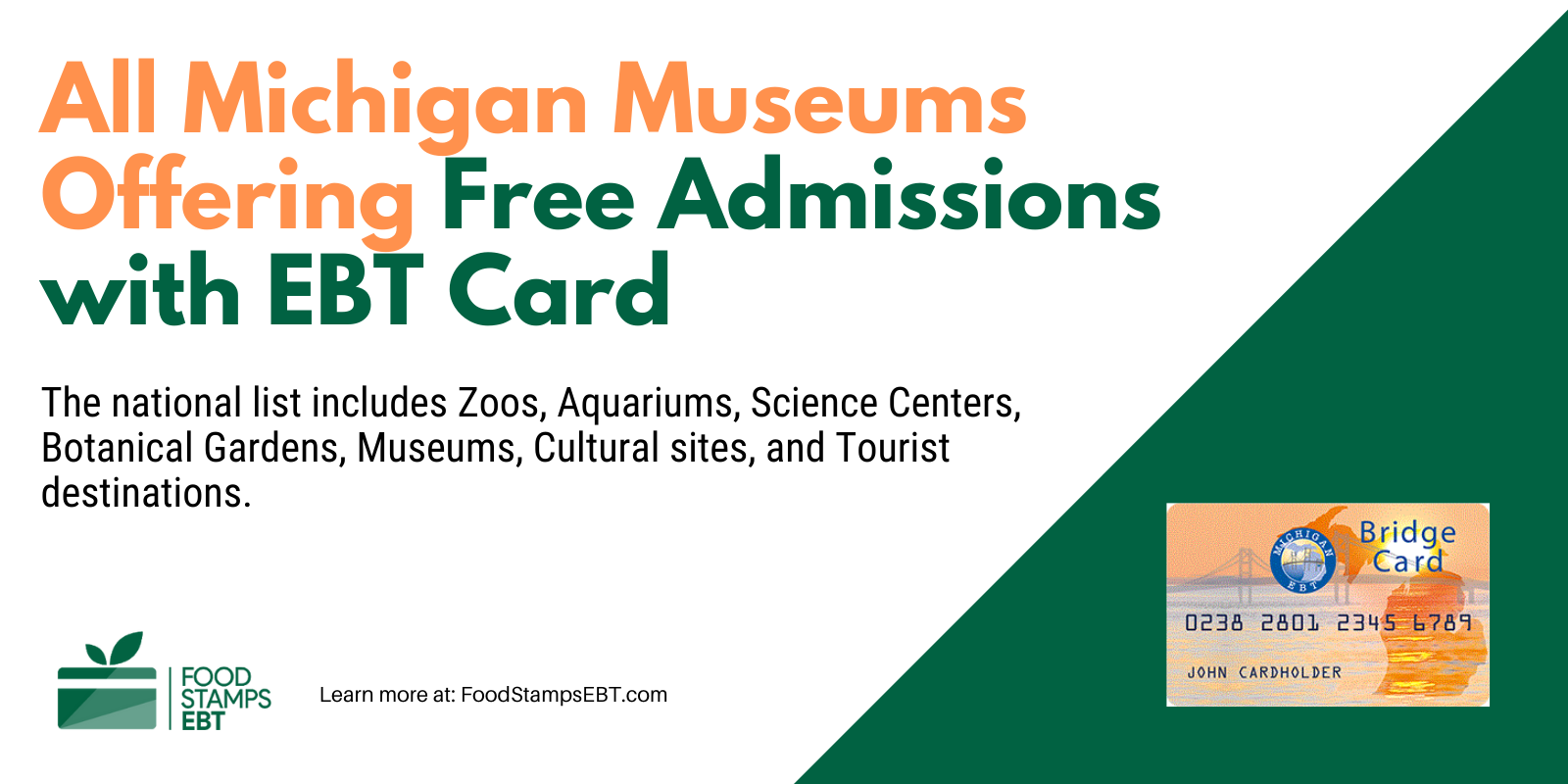 """""""Michigan Museums For Free with EBT Card"""""""