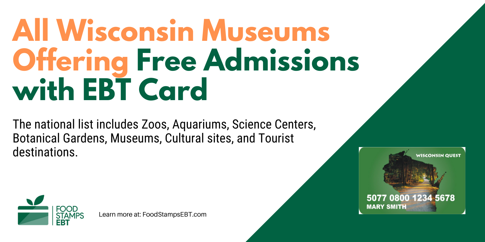 """""""Wisconsin Museums For Free with EBT Card"""""""